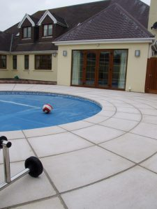 cast stone swimming pool surround