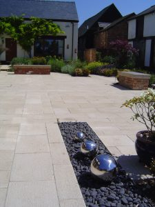 self build cast stone paving