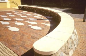 cast stone decorative flooring and seats