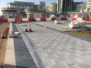 Brighton i360 Paving in progress